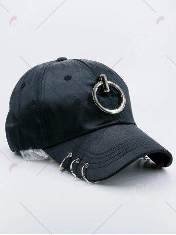 Store Metallic Circles Embellished Baseball Cap - BLACK  Mobile