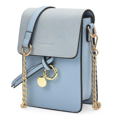 Unique Candy Color Mini Crossbody Bag - BLUE  Mobile