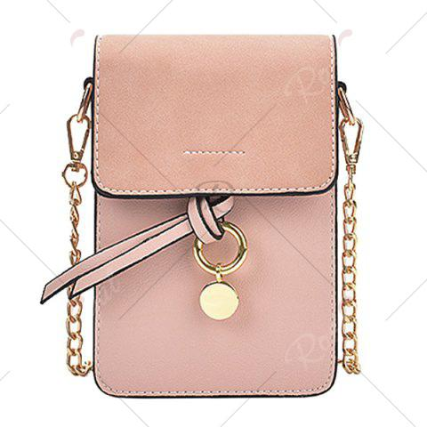 Unique Candy Color Mini Crossbody Bag - PINK  Mobile