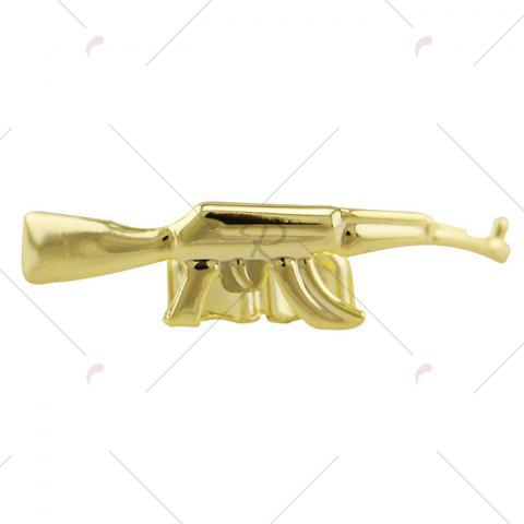 Fancy Gun AK47 Shape Hip Hop Top Teeth Grillz - GOLDEN  Mobile