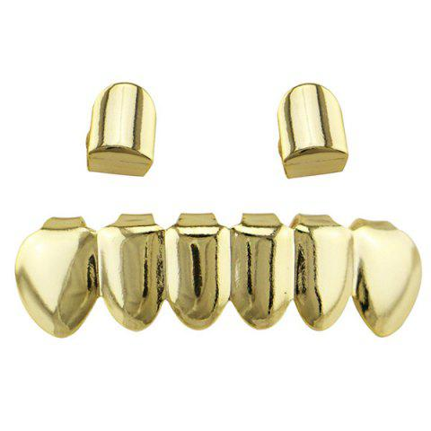 Outfits Hip Hop Funny Top Bottom Teeth Grillz Set