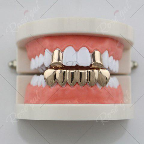 Buy Hip Hop Funny Top Bottom Teeth Grillz Set - ROSE GOLD  Mobile