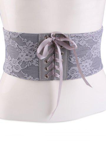 Affordable Lace Up Vintage Lacework Corset Belt