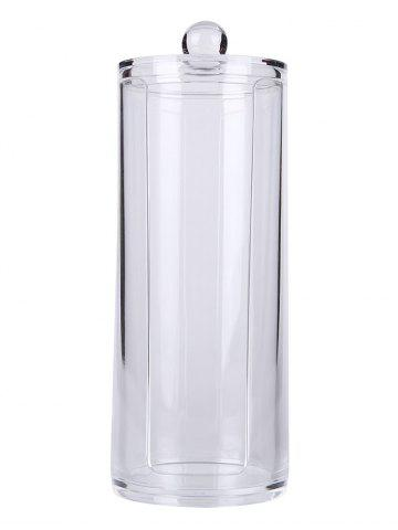 Buy Cylinder Shaped Cosmetic Organizer Makeup Storage Bucket TRANSPARENT