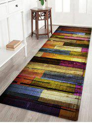 Colorful Wood Flooring Pattern Anti-skid Water Absorption Area Rug