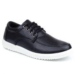 Lace Up Faux Leather Casual Shoes