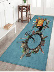 City Bike Pattern Anti-skid Water Absorption Area Rug