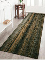 Wooden Floor Pattern Anti-skid Water Absorption Area Rug
