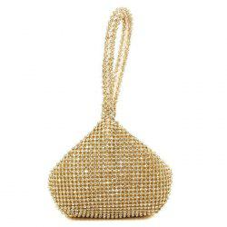 Geometric Shaped Rhinestone Evening Bag
