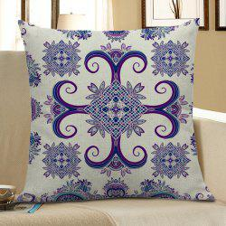 Bohemian Geometric Floral Linen Decorative Pillow Case