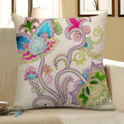 Floral Printed Decorative Pillow Case