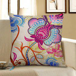 Floral Bird Print Home Decor Pillow Case