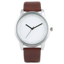 PU Leather Strap Analog Quartz Watch