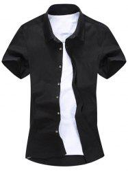 Short Sleeve Button Down Plain Shirt