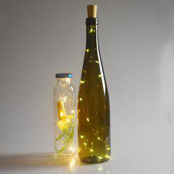 Party Decorative 2PCS Bottle Stopper LED String Light - YELLOW