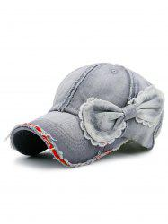 Bowknot Artificial Sanding Denim Baseball Hat