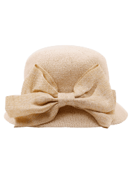 Wide Bowknot Ribbon Embellished Sun Hat