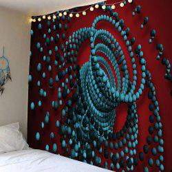 Home Decor Waterproof 3D Psychedelic Beads Tapestry -
