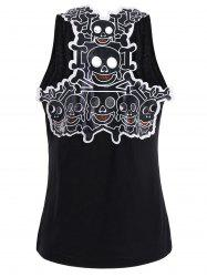 Hollow Out Skull Insert Racerback Tank