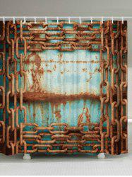 Mildew Resistant Rusty Chain Shower Curtain
