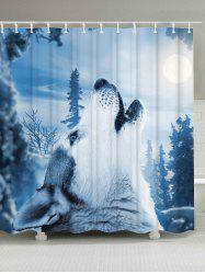 Snow Wolf Mouldproof Shower Curtain Bathroom Decor