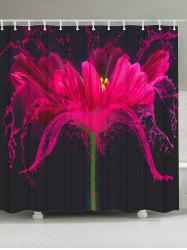 Bath Screen Mildew Resistant Flower Shower Curtain
