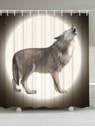 Moon Wolf Printed Shower Curtain For Bathroom