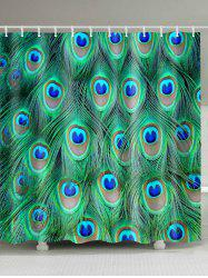 Mildew Resistant Peacock Feather Shower Curtain