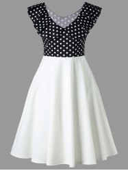 Doll Collar Polka Dot Retro Dress