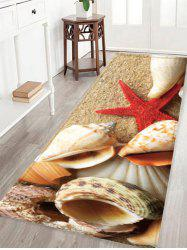 Conch Print Crystal Velvet Fabric Skidproof Rug