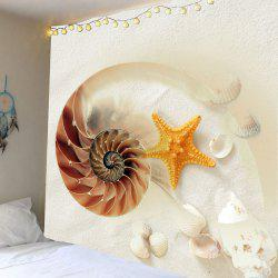 Home Decor Conch Starfish Print Wall Hanging Tapestry -