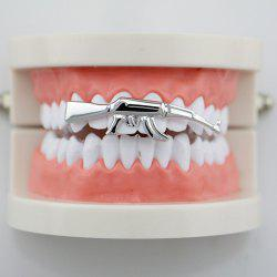 Gun AK47 Shape Hip Hop Top Teeth Grillz