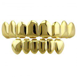 Top and Bottom Hip Hop Teeth Grillz Set -