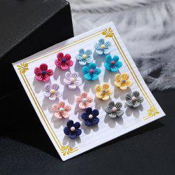 Flower Cute Tiny Stud Earring Set