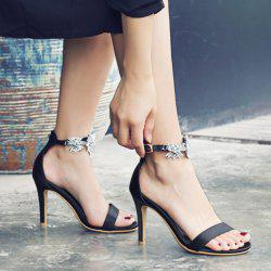 Embellished Stiletto Heel Two-Piece Sandals