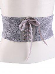 Lace Up Vintage Lacework Corset Belt -