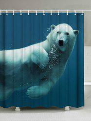Polar Bear Printing Mildewproof Shower Curtain