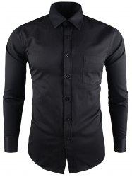 Long Sleeve Pocket Business Twill Shirt
