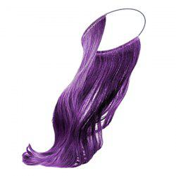No Clips Fish Line Medium Straight Cosplay Synthetic Hair Extension - PURPLE