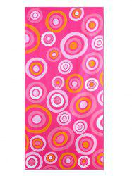 Circle Printed Polyester Rectangle Bath Towel