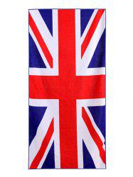 British Flag Print Polyester Fabric Soft Bath Towel