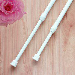 Size Adjustable Extendable Door Curtain Pole Rod - WHITE