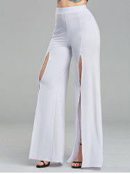 High Waisted Front Slit Palazzo Pants