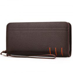 Dual Zips PU Leather Clutch Wallet