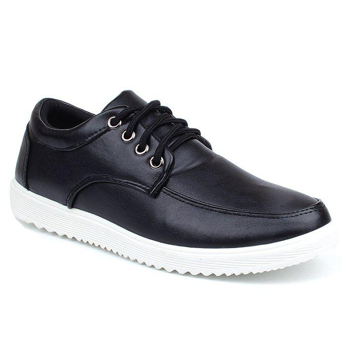 Fashion Lace Up Faux Leather Casual Shoes