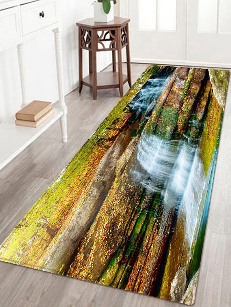 Waterfall Scenery Pattern Anti-skid Water Absorption Area RugHOME<br><br>Size: W16 INCH * L47 INCH; Color: COLORMIX; Products Type: Bath rugs; Materials: Flannel,Sponge; Style: Trendy; Shape: Rectangle; Package Contents: 1 x Rug;