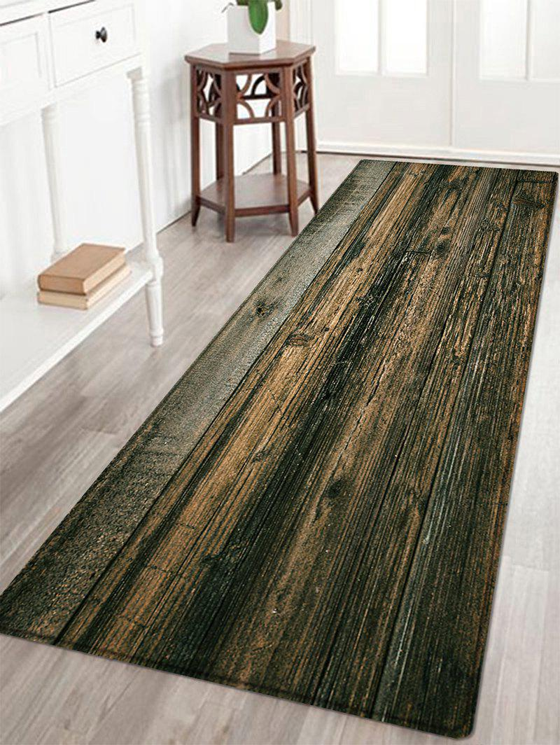 Wooden Floor Pattern Anti-skid Water Absorption Area RugHOME<br><br>Size: W24 INCH * L71 INCH; Color: DUN; Products Type: Bath rugs; Materials: Flannel,Plastic,Sponge; Style: Vintage; Shape: Rectangle; Package Contents: 1 x Rug;