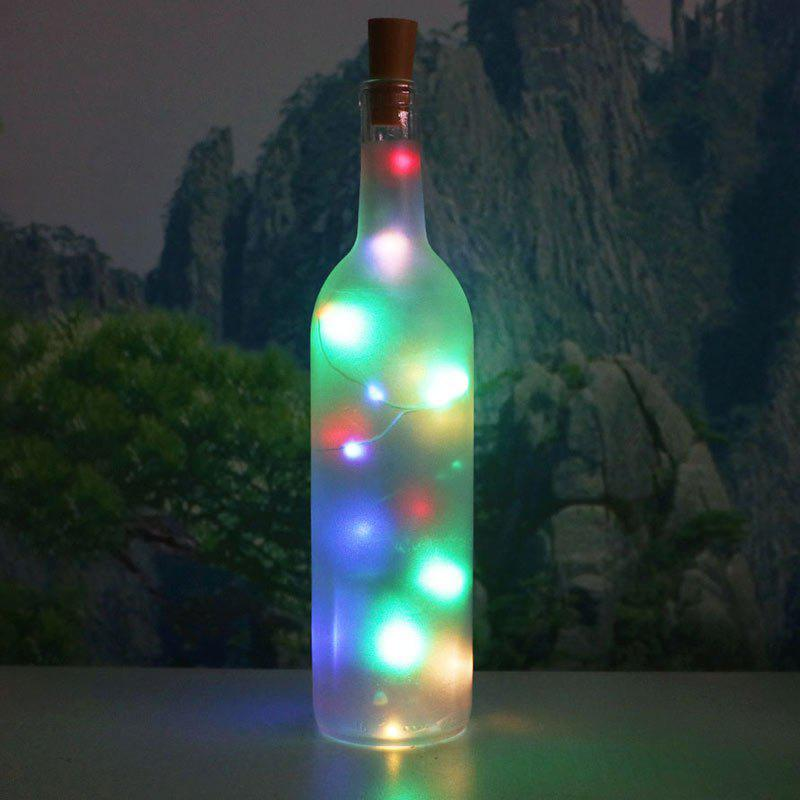 Decorative Colorful 2PCS Bottle Stopper LED String LightHOME<br><br>Color: COLORFUL; Products Type: Novelty Lighting; Materials: Plastic; Style: Romantic; Occasion: Brithday Party,Christmas,Home,Outdoor,Party Supplies; Weight: 0.0400kg; Package Contents: 2 x String Light;