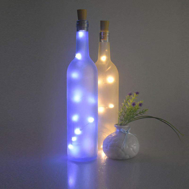 Christmas Decorated 2PCS Bottle Stopper LED String LightHOME<br><br>Color: BLUE; Products Type: Novelty Lighting; Materials: Plastic; Style: Romantic; Occasion: Christmas,Home,Outdoor,Party Supplies,Wedding; Weight: 0.0400kg; Package Contents: 2 x String Light;