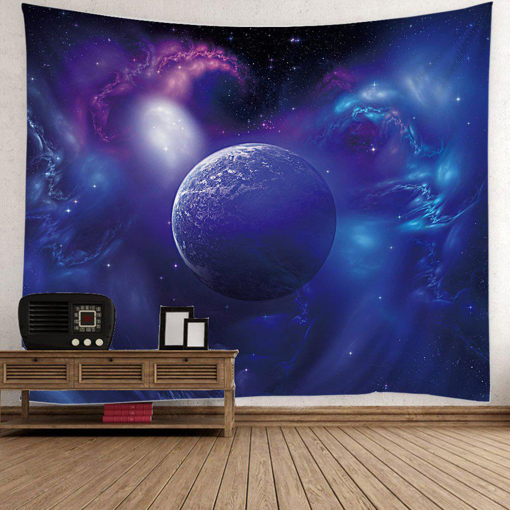 Wall Hanging Outer Space Star Earth TapestryHOME<br><br>Size: W59 INCH * L79 INCH; Color: BLUE; Style: Romantic; Material: Polyester; Feature: Removable,Washable; Shape/Pattern: Print; Weight: 0.5000kg; Package Contents: 1 x Tapestry;